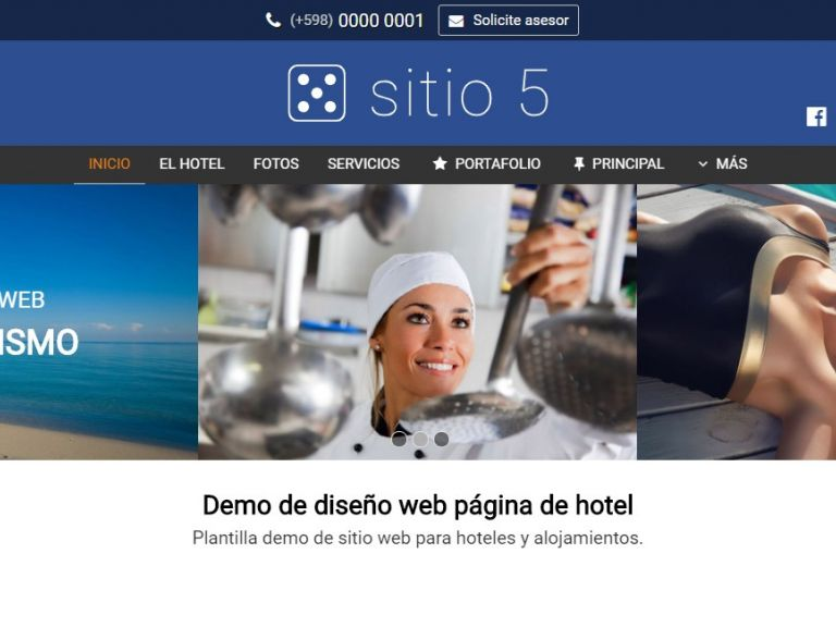 HOTEL 5 . Web design template for hotels