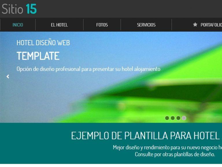 Demo diseño sitio web hotel #15. - HOTEL 15 . Diseño sitio web institucional